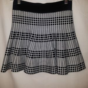 Black plaid mini skirt